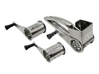 High quality Kitchen Rotary Stainless Steel Cheese Grater 3 Drums Slice Shred