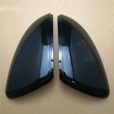 2PCS Piano Gloss Black VW Golf 7 MK7 GTI R 2013-2017 Mirror Cover Side Wing Caps
