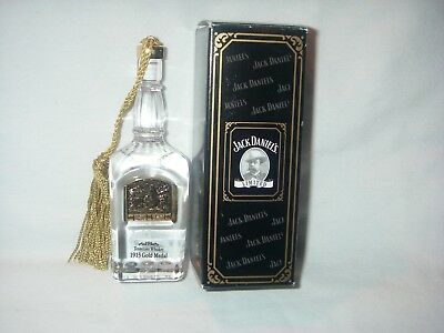 Jack Daniel's 1913 Gold Medal Commemorative Ornament Lead Crystal Limited Ed