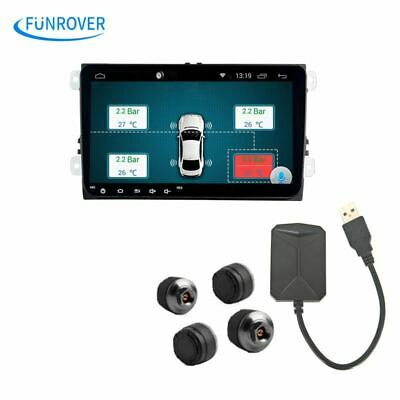 Car TPMS Android Tire Pressure Monitoring System with 4 Internal Sensors for OS