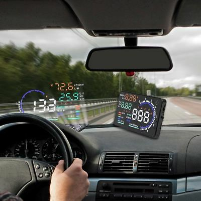 A8 5.5 Inch Obd Car Hud Head Up Display Odb2 Windows Screen Projector Speed Warn