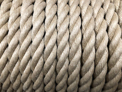Rope Synthetic Hemp (Hempex) Boating/Decking/Garden Sizes 6mm - 24mm