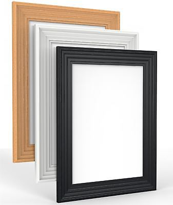 Swept Photo Picture Frame Antique Vintage Shabby Chic Black white oak