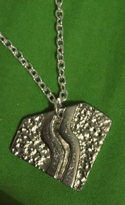 Bon Jovi Slippery When Wet Necklace Silver Metal Pendant With Chain