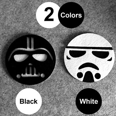 1PC*Star Wars Cup Drinks Holder coffee felt Mats Tableware Placemat Black/White