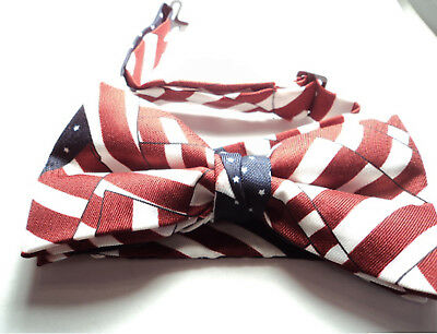 MASONIC PATRIOTIC BOW TIE ADJUSTABLE - RED, WHITE, and BLUE   - pbt