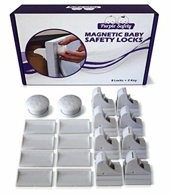 Magnetic Baby Safety Locks for Cabinets & Drawers - Baby Proof & Easy Install -