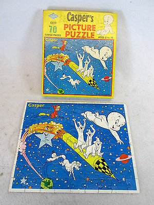 Vintage 1960's Casper the Friendly Ghost jigsaw puzzle by Built-Rite