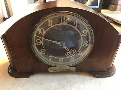 Art Deco Mappin & Webb Wooden Mantel Clock