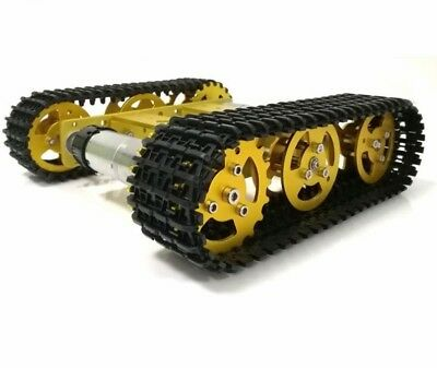 RC Metal Robot Tank Chassis mini T100 Crawler Tracked Vehicle