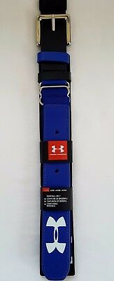 """Youth Under Armour Baseball Belts up to 36"""" Blue"""