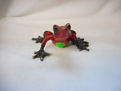 Barry Stein Red Bronze Frog Figurine Amphibian Art Sculpture 128/1000