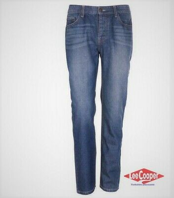Lee Cooper Classic Regular Fit Jeans Mens > Navy Mid Wash > Size 32W - 32R