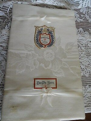 Vintage Warranted Damask Tablecloth 52 X 70 ~IVORY~ Made in Japan ~FREE SHIP