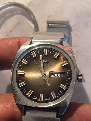 Camy ETA 2789 Club Star Automatic All Ori Working Men Watch With BENTEX S/S BAND
