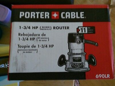 Porter Cable M#690LR Fixed-Based Router 1-3/4 HP 11 AMP w/ 9 pc Router Template