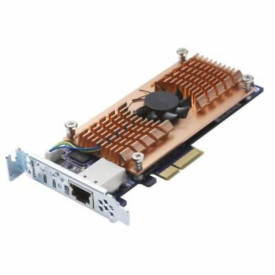 QNAP Dual M.2 22110/2280 SATA SSD and Single port 10gbe Expansion Card