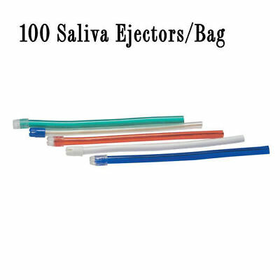 SALIVA EJECTOR WHITE W/WHITE TIP 100/Bag, Pack of 3 (Total 300 Tips) [1980-MD-Q3