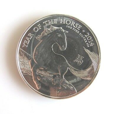 2014 Great Britain Year of the Horse £2 BU 1 Oz .999 Silver Coin