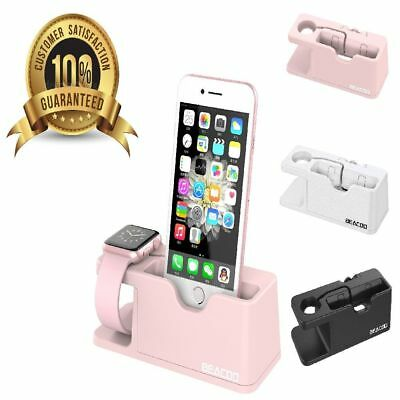Apple Watch And iPhone Charging Dock Stand iWatch Charger Holder Bracket Pink