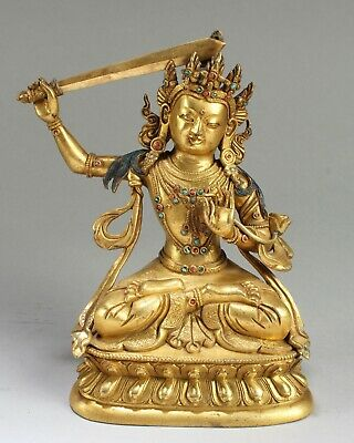 Gilt Bronze Green Tara Figure