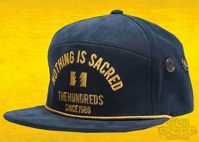 2a376daaad190 NEW THE HUNDREDS Save Navy Mens Snapback Cap Hat -  25.95