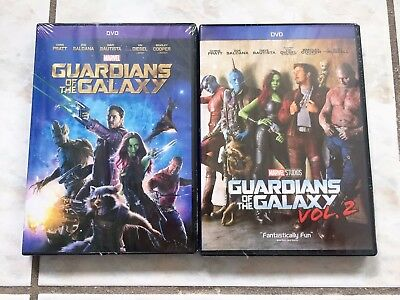 Guardians of the Galaxy Volume 1 and 2 Combo Includes both Movies DVD Bundle