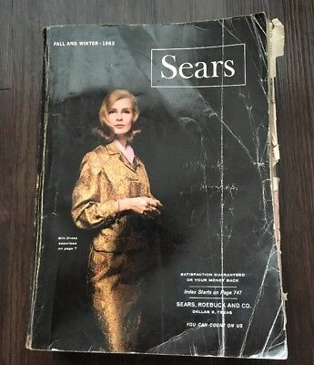 Vintage 1963 Sears Roebuck Catalog Fall and Winter Chicago Edition MCM Book