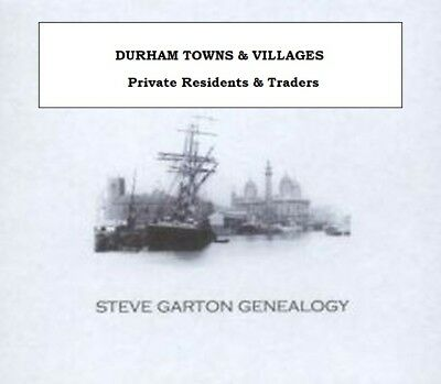 Genealogy Directory For Towns & Villages In Durham & Northumberland 1834 - 1939