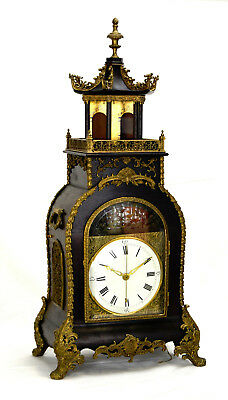 An Old Canton Workshop Chinese Automaton Acrobats Musical Pagoda Bracket Clock