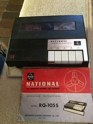 Capstan Drive Tape Recorder Model RQ105s with instructions