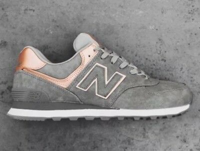 f2cc60bbd5f2 Women s New Balance 574 ROSE GOLD Grey Bronze Size 9 Sneakers Shoes  WL574PBG NEW