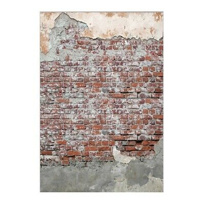 Muzi 150x220cm Cement Wall Photography Backdrops Worn Red Brick Wall Backdrop Ce