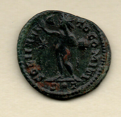 UN RESEARCHED ROMAN BRONZE COIN of a GOD/DESS ? - UK FIND - (STAR card) LONDON ?
