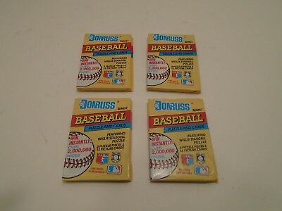 1991 Donruss Baseball Series1 Sealed and Unopened 4 Wax Pack Of Cards.