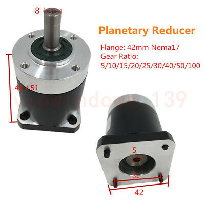 Free DHL Shipping! Nema17 Stepper Planetary Gearbox 50:1 Gear Speed Reducer CNC