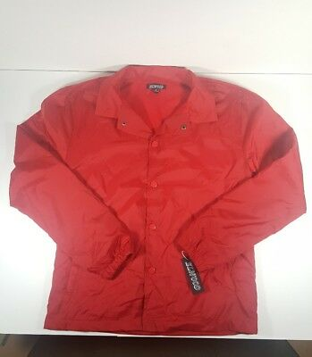 Elwood Coach jacket Snap front pockets Mens Red Size S