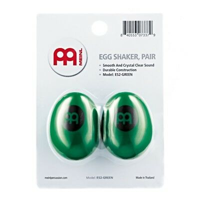 Meinl Percussion Egg Shaker Pair - Green  Crystal Clear Sound