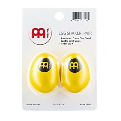 Meinl Percussion Egg Shaker Pair - Yellow  Crystal Clear Sound