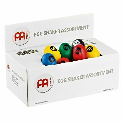 Meinl Percussion Egg Shaker Box - Blue/Black/Green/Red/Yellow (60 Pieces)