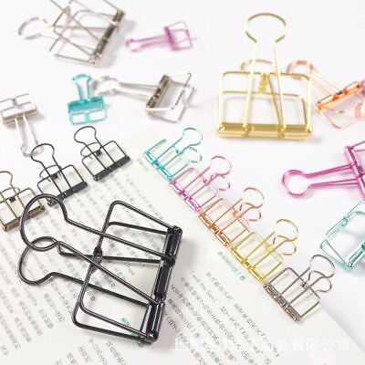 Hollow Binder Paper Home Office Organizer File Clips School