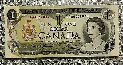 Uncirculated Canadian One Dollar Bank Notes