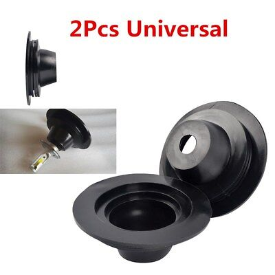 Pair of Universal Headlight Rubber Housing Dust Cap Seal Cover for Car LED Light
