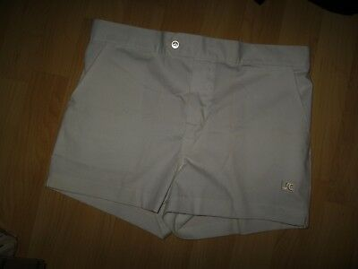 Jimmy Connors Tennis Shorts - Vintage 1970's White Court Short Shorts Men's 34""