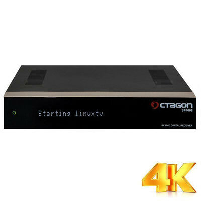 Octagon SF4008 Triple UHD HD 4K USB Ultra 2x DVB-C/T2  E2 Linux Receiver