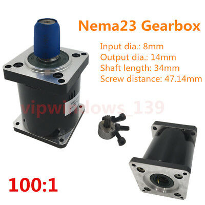 100:1 Nema23 Planetary Gearbox 57mm Stepper Motor Speed Reducer For CNC Router