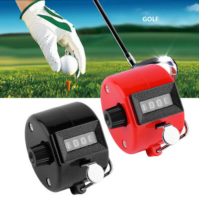 Hand Held Tally Counter Counters 4 Digit Palm Golf Clicker New