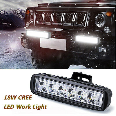 4pcs 18W LED Work Light Bar Spot Lights for Driving Lamp Offroad Car Truck SUV