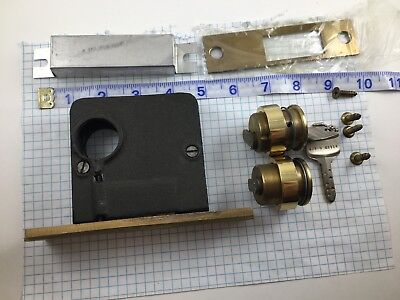 Antique Vintage Sargent Mortise Deadlock & Keso Mortise Cylinder with dimple key