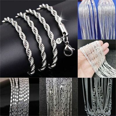 "Wholesale 20pcs/lot 925 Sterling Silver Chain Necklace 16-30"" Many Style Jewelry"